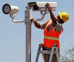 red light camera worker